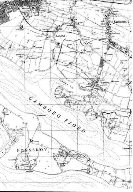 Kortudsnit over Gamborg Fjord